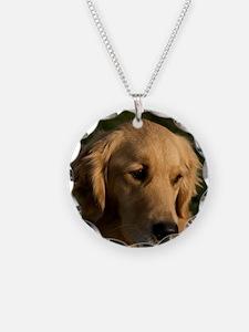 (14) golden retriever head s Necklace