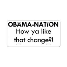 Obama 2 Aluminum License Plate