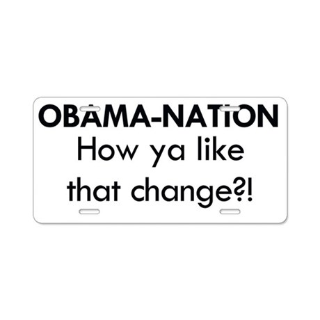 Obama 2 Aluminum License Plate