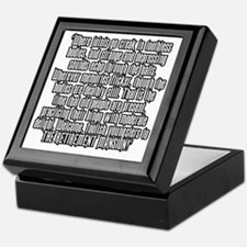 retirementmansionshirtback Keepsake Box