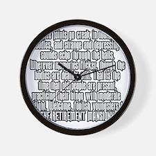 retirementmansionshirtback Wall Clock