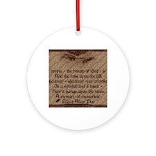 Edgar Allan Poe Breath Card Round Ornament