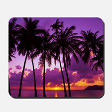 Purple Tropical Sunset 2 Mousepad