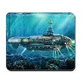 Nautilus submarine Classic Mousepad