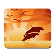 Dolphin Sunset Mousepad
