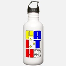 2-FAITH_shirt_outline_ Water Bottle