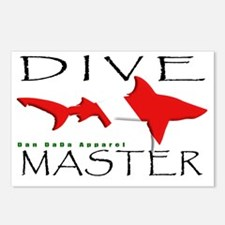 DIVE MASTER SHARK 6.5x10  Postcards (Package of 8)