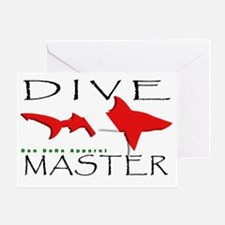 DIVE MASTER SHARK 6.5x10 4BLKCLR Greeting Card