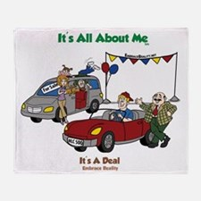 car dealer-color3-FINAL-Crop Throw Blanket