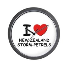 I love new zealand storm-petrels Wall Clock