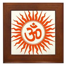 Spiritual Om Design Framed Tile