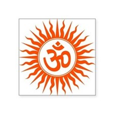 "Spiritual Om Design Square Sticker 3"" x 3"""