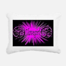 slavegirl BLACK Rectangular Canvas Pillow