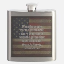 Jefferson Quote Liberty Flask