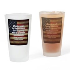 Jefferson Quote Liberty Drinking Glass