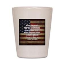 Jefferson Quote Liberty Shot Glass