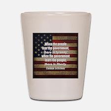 Jefferson Quote Liberty Shot Glass
