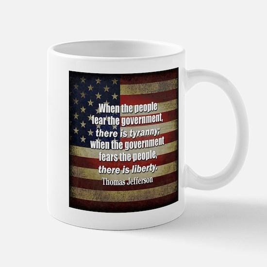 Jefferson Quote Liberty Mugs