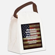 Jefferson Quote Liberty Canvas Lunch Bag