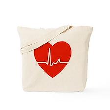 HeartBeatsRed Tote Bag