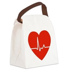 HeartBeatsRed Canvas Lunch Bag