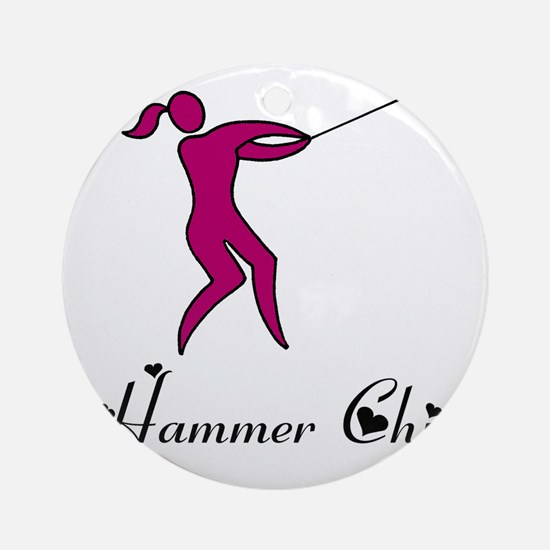 Hammer Chick Round Ornament