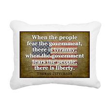 Jefferson Quote Liberty Rectangular Canvas Pillow