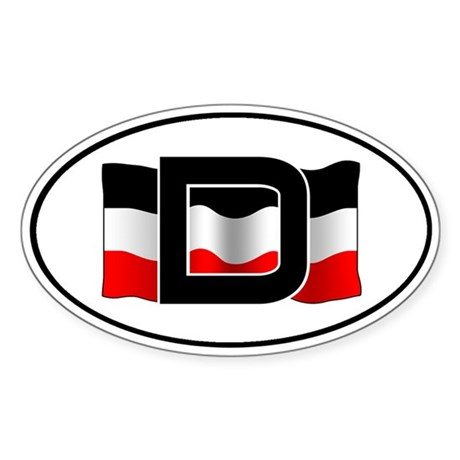 German imperial flag car decal (with frame)