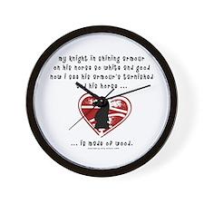 Knight in Shining Armour Wall Clock