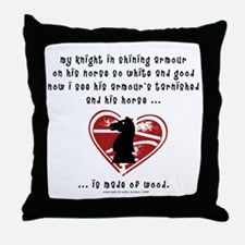 Knight in Shining Armour Throw Pillow