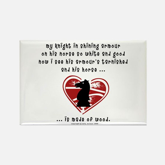 Knight in Shining Armour Rectangle Magnet