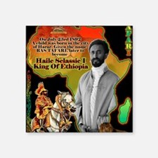 "selassie africa Square Sticker 3"" x 3"""