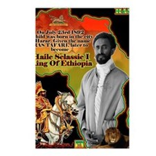 selassie africa Postcards (Package of 8)
