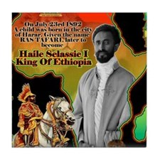 selassie africa Tile Coaster
