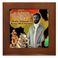 selassie africa Framed Tile