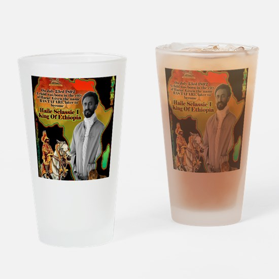 selassie africa Drinking Glass