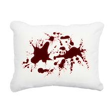 2-real blood Rectangular Canvas Pillow
