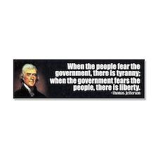 Jefferson Quote Liberty Car Magnet 10 x 3
