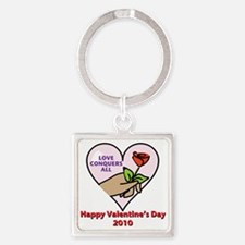 love conquers all Square Keychain