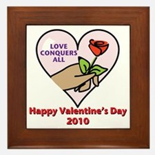 love conquers all Framed Tile