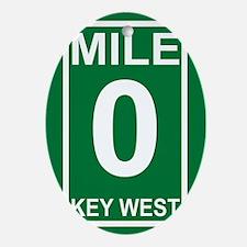 5-milezerorectanglesticker Oval Ornament