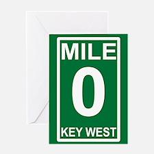 5-milezerorectanglesticker Greeting Card