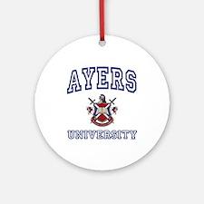 AYERS University Ornament (Round)