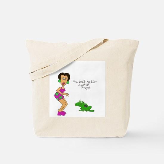 2-SR kiss frogs Tote Bag
