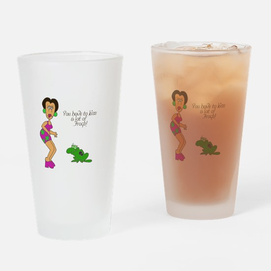 2-SR kiss frogs Drinking Glass