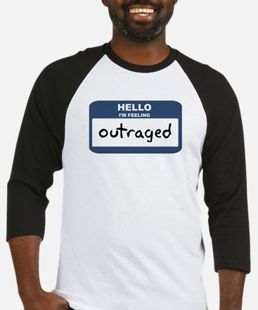 Feeling outraged Baseball Jersey