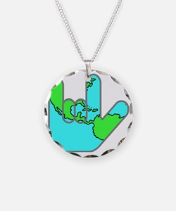 I Love You Earth.gif Necklace