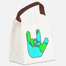 I Love You Earth.gif Canvas Lunch Bag