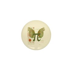 Winged Pi Mini Button (100 pack)