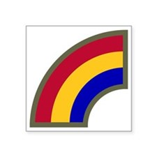 """42nd Infantry Division Square Sticker 3"""" x 3"""""""
